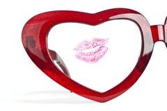 Demi de glaces avec le coeur et les languettes pour le valentine Image stock