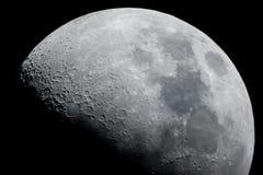 demi de lune proche vers le haut images libres de droits