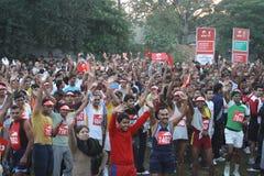 Demi de marathon 2010 de Delhi Images stock