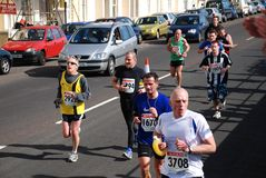 Demi de marathon de Hastings images libres de droits
