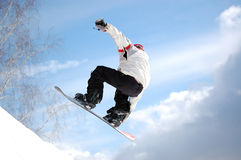 Demi de pipe de Snowboard Photos stock
