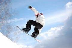 Demi de pipe de Snowboard Photos stock