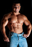 Jeune homme musculaire Images stock