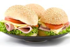 Demi de sandwich à jambon et à fromage Images libres de droits