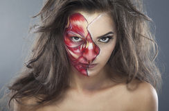 Demi de visage Images libres de droits
