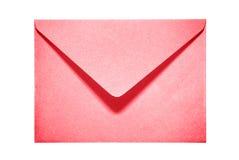 Demi enveloppe de papier rouge ouverte Images stock