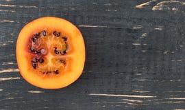 Demi fruit de tamarillo Image stock