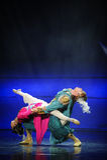 Demi lune vivante de ballet d'amour-Hui au-dessus de Helan Photographie stock libre de droits