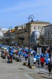 Demi marathon 2016 de Varsovie Image stock