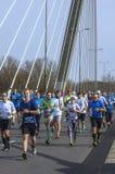 Demi marathon 2016 de Varsovie Image libre de droits