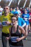 Demi marathon 2016 de Varsovie Images stock