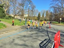 Demi marathon Torino de Santander Photo libre de droits