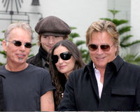 Demi Moore,Don Johnson,Ashton Kutcher,Billy Bob Thornton Royalty Free Stock Photo