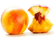 Demi nectarine Photographie stock libre de droits