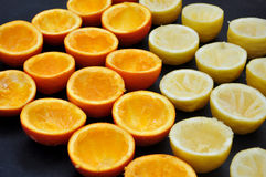 Demi oranges et citrons Photo stock
