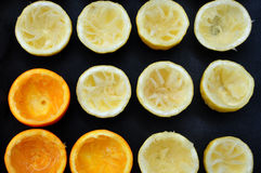 Demi oranges et citrons Photos libres de droits