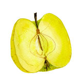 Demi pomme golden delicious illustration de vecteur