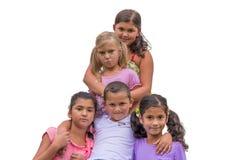 Demi-soeur triste dans la famille gitane Photos libres de droits