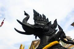 Demi statue d'éléphant de lion Image libre de droits