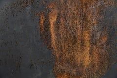 Demi surface métallique rouillée Photos libres de droits
