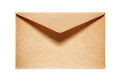 Demi vieille enveloppe de papier jaune ouverte Photos libres de droits