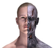 Demi vivant - demi zombi Photographie stock libre de droits