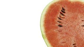 Demi watermelom de morceau Photographie stock