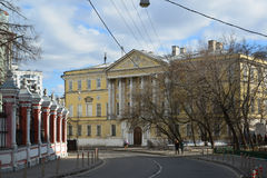 Demidov city estate, Gorokhovsky lane, now  Institute of Geodesy and Cartography Engineers in Moscow, Russia Royalty Free Stock Photography