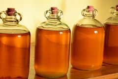 Demijohns Royalty Free Stock Images