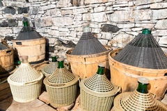 Demijohns of wine. Stock Photography