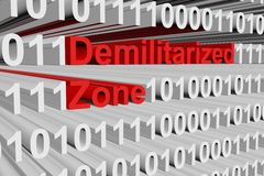 Demilitarized zone. In the form of binary code, 3D illustration Stock Image