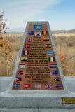 Demilitarized Zone marker Royalty Free Stock Image