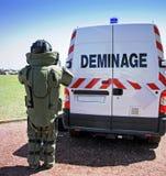 Группа по обнаружению и обезвреживанию взрывных устройств (Deminage) Стоковое фото RF
