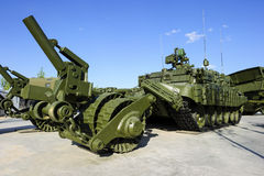 Demining military vehicle Stock Photo