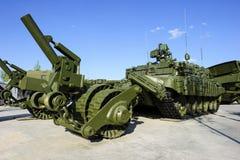Demining pojazd wojskowy Zdjęcie Stock