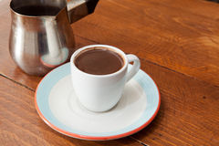 Demitasse cup of Turkish coffee Royalty Free Stock Images