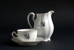 Demitasse and jug Royalty Free Stock Photography