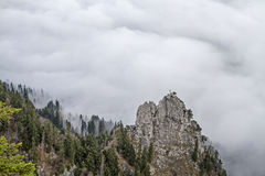 Demmelspitze - forbidden mountain Stock Images