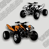 ATV racing Stock Photo