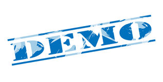 Demo blue stamp Royalty Free Stock Photography