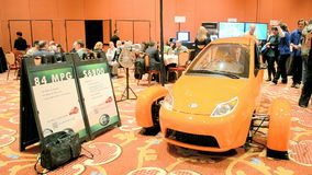 Demo car preview before NAB Show 2014 exhibition in Las Vegas, USA, Royalty Free Stock Image