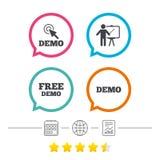 Demo with cursor icon. Presentation billboard. Royalty Free Stock Photos