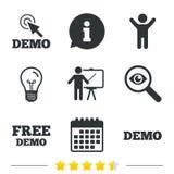 Demo with cursor icon. Presentation billboard. vector illustration