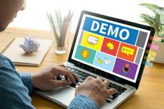 DEMO Demo Preview Ideal lizenzfreie stockbilder