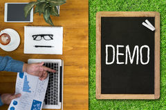DEMO Demo Preview Ideal imagen de archivo libre de regalías