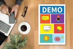 DEMO Demo Preview Ideal Trial Ideal y Demo Preview foto de archivo libre de regalías