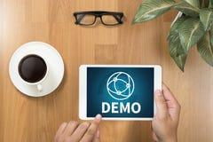 DEMO Demo Preview Ideal Trial Ideal y Demo Preview foto de archivo