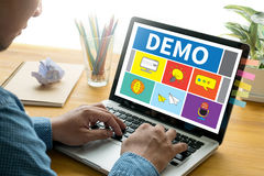 DEMO Demo Preview  Ideal. DEMO Demo Preview Ideal Work Flow Royalty Free Stock Images
