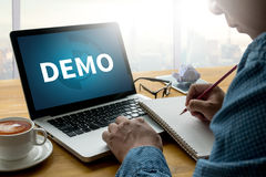 DEMO Demo Preview Ideal. Work Flow royalty free stock photos