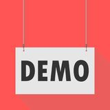 Demo Hanging Sign Image stock